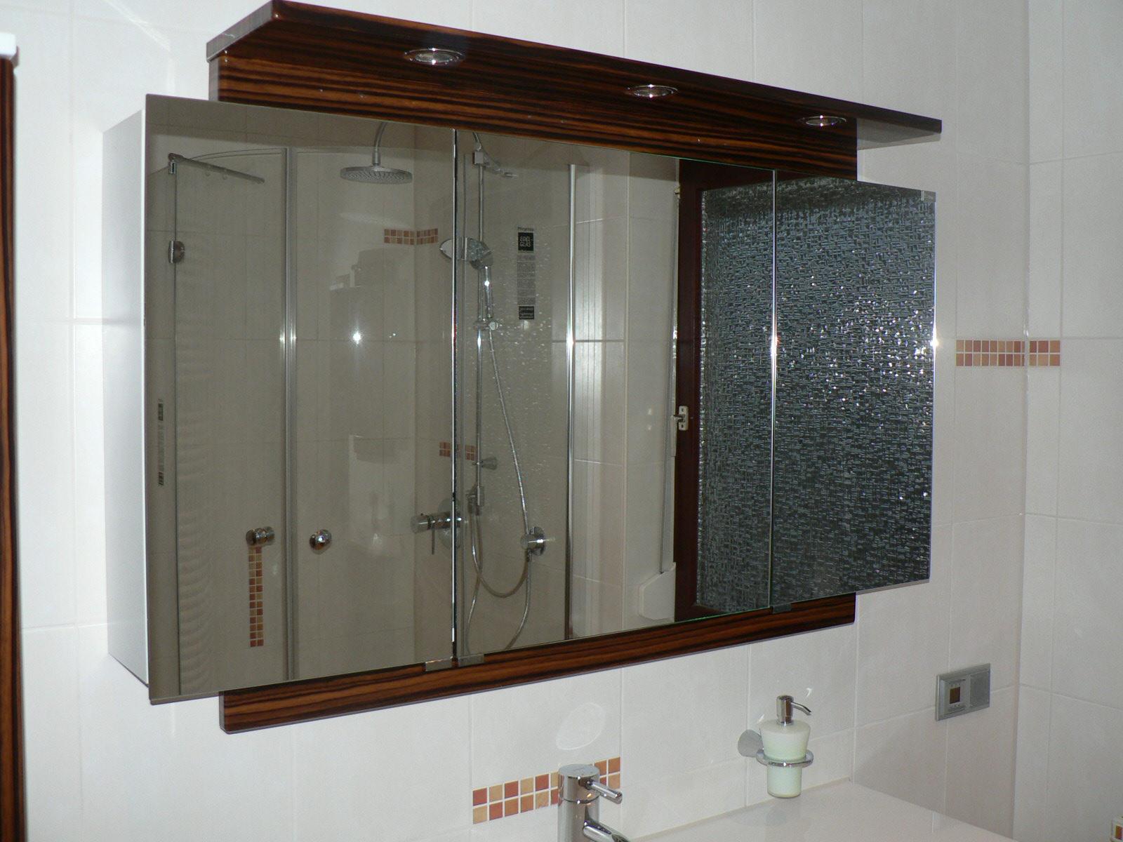 Spiegelschrank Holz Weiß